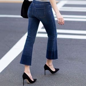 Spanx Cropped Flare Denim Jeans